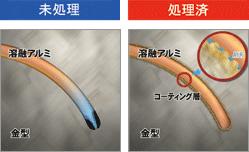 金型の湯流れ性の保持・欠肉の予防