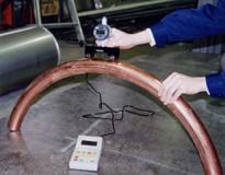曲管のR寸法測定